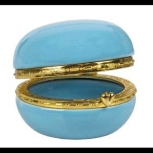 French Macaroon-Shaped Hinged Trinket Boxes